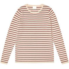 Bluza femei FUB lână merinos extra fine knit - Rib Ecru/Navy/Red Women's Summer Fashion, Organic Cotton, Navy, Clothes For Women, Knitting, Womens Fashion, Sweaters, Design, Ribe