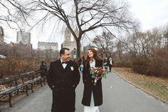 Lauren & Russ Bow Bridge Elopement Central Park Weddings, Cold Day, Bridge, Bows, Couple Photos, Couple Shots, Couple Pics, Bowties, Bro