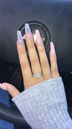 Long acrylic coffin nails Blush pink with glitter special occasion nails – Long Nails – Long Nail Art Designs Gorgeous Nails, Pretty Nails, Hair And Nails, My Nails, Crome Nails, Best Acrylic Nails, Coffin Acrylic Nails Long, Acrylic Nails Autumn, Colourful Acrylic Nails