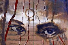 This painting is part of a series of paintings I made with eyes juxtaposed on metro corridors and stairways in Moscow, Russia. Symbols, Wall Art, Gallery, Painting, Roof Rack, Icons, Painting Art, Paintings, Paint