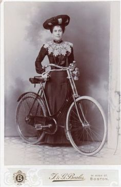 VICTORIAN-CABINET-CARD-PHOTO-LADY-OF-FASHION-NEW-BICYCLE-HAT-BEALES-BOSTON