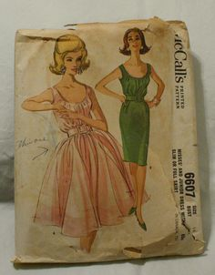 McCall 6607 Vintage 1960s Party Dress Sewing by EleanorMeriwether, $24.00