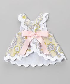 Yellow & Gray Floral Bloomer Set - Infant & Toddler | zulily