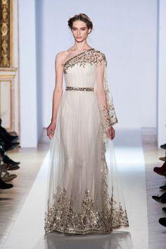 The Greek Goddess dress @ZMURADofficial Zuhair Murad Spring Summer Couture 2013 #HauteCouture #HC #Fashion