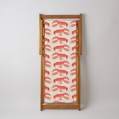 Buy Deckchair Sling - This cotton canvas sling is screen printed with a coral Lobster design. Garden Seating, Cotton Canvas, Screen Printing, Wall Lights, Mirror, Frame, Prints, Beautiful, Seaside