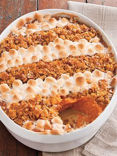 Sweet Potato Casserole With Pecan Crumble Recipe by Saveur | Maypurr