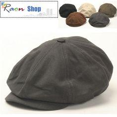 Men Gatsby Eight Panel Newsboy Ivy Cap Gray Flat hat