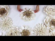 DIY Paper Flower Tutorial | My Wedding Backdrop Flowers | Template #5 - YouTube