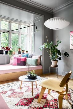 Apartment living has never looked so chic! Step inside this colourful city apartment and discover how this large family makes it work Attic Living Rooms, Apartment Living, Living Room Decor, Room Inspiration, Interior Inspiration, Danish Apartment, Living Room Scandinavian, Scandinavian Style, Interior Styling