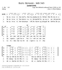 Ratu Rosari - misa.lagu-gereja.com   lagu gereja katolik   MADAH BAKTI NOT ANGKA   PUJI SYUKUR KATOLIK   Lagu Perkawinan Katolik