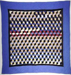 3d illusion afghan block pattern | tumbling blocks | Tumblr