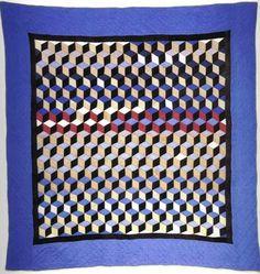 3d illusion afghan block pattern   tumbling blocks   Tumblr