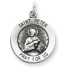 Sterling Silver Antiqued Saint Peter Medal. Made in the USA. Arrives ready for gifting. Free gift packaging included. Shop with confidence. West Coast Jewelry has been a trusted seller for over 7 years and is dedicated to excellent customer service. Your satisfaction is 100% guaranteed.