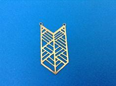 Raw Brass Chevron Pendant, 1 Pc Exclusive at Goldie Supplies by GoldieSupplies on Etsy https://www.etsy.com/listing/194111723/raw-brass-chevron-pendant-1-pc-exclusive