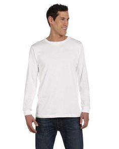 Bella + Canvas Men's Jersey Long-Sleeve T-Shirt - 3501  4.2 oz., 100% combed and ringspun cotton; 30 singles; Ribbed cuffs; Sideseamed with retail fit;  3.4 oz.;  Adult: S, M, L, XL, 2XL   Starting at $7.72