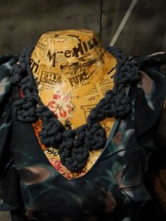 crocheted rope necklace