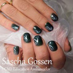 Naturel nails with CND Shellac and airbrush  #nailart #naildesign #airbrush…