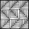 Zentangle pattern: Chard