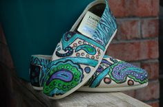Customize Painted Toms Shoes. $45.00, via Etsy.