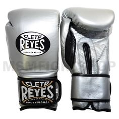 Cleto Reyes Limited Edition Velcro Boxing Gloves - Titanium
