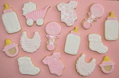 decorated baby cookies | Baby Girl Shower Cookies decorated with Royal Icing | Suz Daily