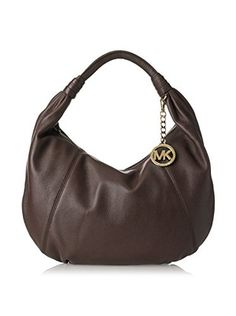 9e436c8f931278 MICHAEL Michael Kors Women's Leather Item Hobo, Dark Chocolate Zipper Bags, Michael  Kors Black
