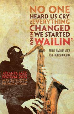 Atlanta Jazz Festival 2012 1 - The Creative Circus Festival Jazz, Festival Posters, Concert Posters, Music Posters, Club Poster, Jazz Poster, Atlanta, Jazz Funk, Jazz Club
