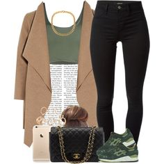 Goodnight. ✨ by livelifefreelyy on Polyvore featuring mode, Roque, Harris Wharf London, J Brand, Asics and Chanel