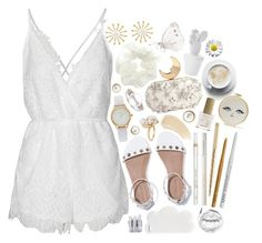 """""""white may"""" by issuri ❤ liked on Polyvore featuring Kate Spade, Reverse, Meg Carter Designs, Topshop, Benedetta Bruzziches, Barry M, NYX, Too Faced Cosmetics, Ilia and Ross-Simons"""