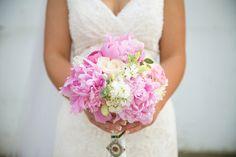 Tanis Katie Photography – Fraser Valley Wedding + Portrait Photographer // pink bouquet // pink wedding flowers // pink and white wedding // pink and white wedding bouquet // vintage lace dress // vintage bouquet