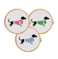 Hey, I found this really awesome Etsy listing at https://www.etsy.com/listing/211170487/cross-stitch-pattern-christmas-dachshund