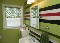 striped painted walls