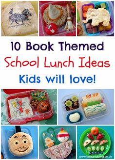 Book Themed Food - 10 Book Bento Lunch Ideas for Kids from Eats Amazing UK - Perfect for World Book Day / Read Across America Day!