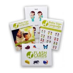 The Deluxe Baby Sign Language Kit includes everything you need to get started teaching your baby to sign. The kit includes:   •Flash Cards - 52 sturdy board (4x6 inches) flash cards, covering a variety of basic signs. The flash cards allow you to teach words, such as animal names, that Baby is not exposed to in everyday life. The face of the flash cards shows the word and image for the child. The back of the flash cards show how the sign is performed, a handy reminder for the adult. …
