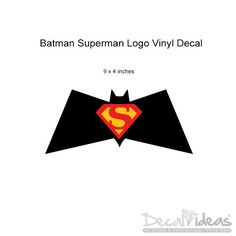 Batman Superman Logo Vinyl Wall Decal Sticker  by StunningWalls