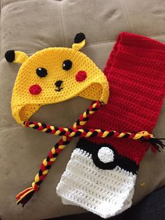 Pikachu, Crochet Hats, Costumes, Clothing, Fashion, Knitting Hats, Outfits, Moda, Clothes