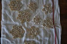 How to Make Glitter Pasta Snowflakes by  katyelliott #DIY Kids #Pasta_Snowflakes