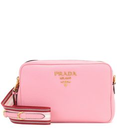 2453af556b4eb Leather Crossbody Bag - Pink - Prada Shoulder bags Umhängetasche Aus Leder
