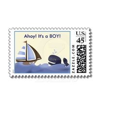 Ahoy Mate Blue Whale Baby Shower / Birthday / Thank You by #allpetscherished