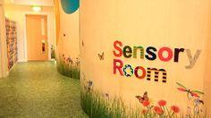 Hallway leading to the new stimulating sensory room.