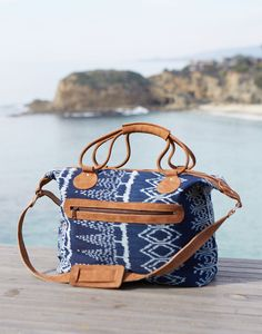 the perfect overnight or beach bag {the beautiful striped fabric is handwoven by women artisans in guatemala}