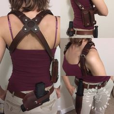 If this is strong enough to hold a real gun, knife, and ammo (rather than just the replicas it's advertised for) I want it. Uncharted Chloe Frazer Gun Holster W/ammo by FanFictionProps