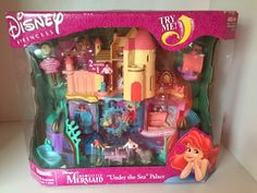 Vintage Polly Pocket Little Mermaid Ariel Under THE SEA Palace Playset NEW | eBay