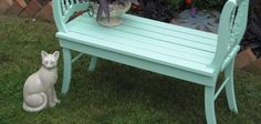 Chuck Megonnell, made this GORGEOUS garden BENCH from two chairs!