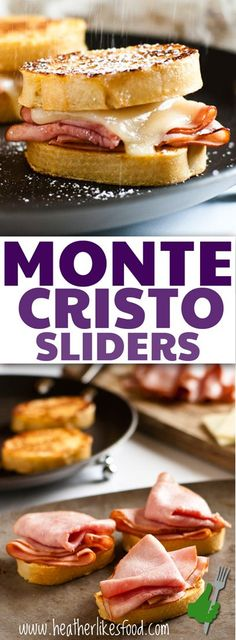 I took all the elements of a classic monte cristo sandwich and turned them into a cute little slider that is so easy to assemble ahead of time and heat up when you're ready to eat. Perfect for entertaining!