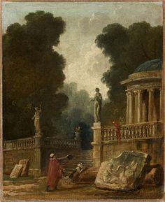 Hubert Robert (Paris, 1733–1808), The Beggar and Parrot, 1794-95