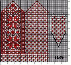 30 Patrones de Mitones Jackard Double Knitting Patterns, Crochet Mittens Free Pattern, Fair Isle Knitting Patterns, Knit Mittens, Knitting Charts, Knitted Gloves, Knitting Stitches, Cross Stitch Christmas Stockings, Bead Crochet Rope