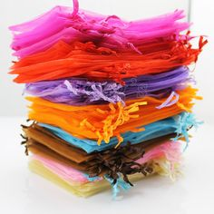 100 pieces Sheer Organza Wedding Party Favour Gift Candy Bags Jewellery Pouches