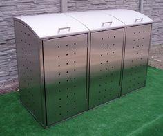 Mülltonnenbox Klappdach für 3 Mülltonnen