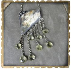 Grave Yard Plume Agate Necklace Sterling Silver and by xaosart, $375.00